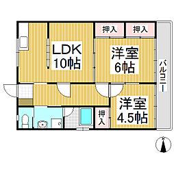 コーポヤマセ[2階]の間取り