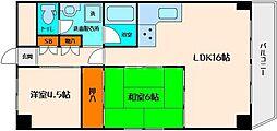 ライオンズマンション第6江坂[8階]の間取り