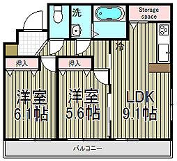 モントレー大船[2階]の間取り
