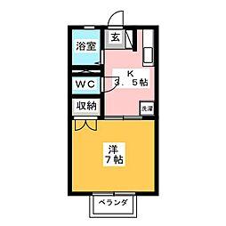 ルミエール関谷[1階]の間取り