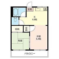 ハイツ松本NO1[1階]の間取り