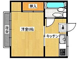 ロードハイツ[2階]の間取り