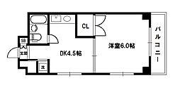 シャルムビラ土井[5階]の間取り
