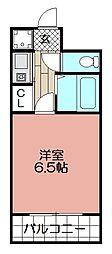 ピュアドームリバーサイド天神(608)[608号室]の間取り