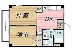 千葉県千葉市中央区椿森6丁目の賃貸アパートの間取り