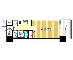 クリスタルグランツ梅田[503号室]の間取り