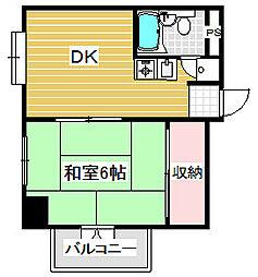 サンピア堀江[2階]の間取り