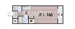 岡山県岡山市北区厚生町2丁目の賃貸マンションの間取り
