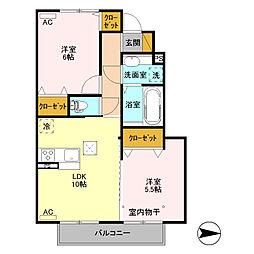 (仮)D-room高井町[103号室]の間取り