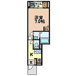 長崎県長崎市目覚町の賃貸アパートの間取り