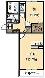 コーポブリックス[203号室]の間取り