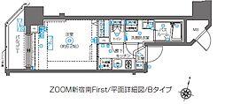 ZOOM新宿南First 11階1Kの間取り