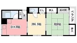 第3ヒマラヤ荘[302号室]の間取り