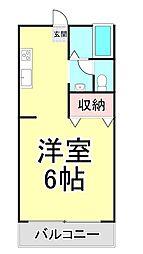 ライムA[1階]の間取り
