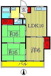 桜田コーポ[2階]の間取り