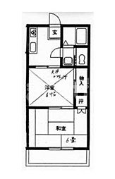 千葉県船橋市西船5丁目の賃貸アパートの間取り