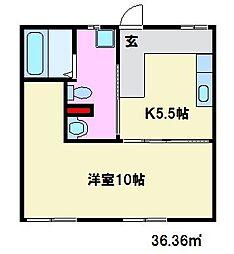 フォーブル高宮[B103号室]の間取り