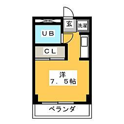 セジュールムラセ[4階]の間取り