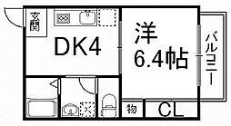 プチウイング[3階]の間取り