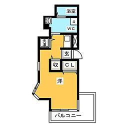 県庁前シティピアエクセル30[3階]の間取り