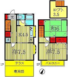 [テラスハウス] 千葉県柏市豊住4丁目 の賃貸【/】の間取り