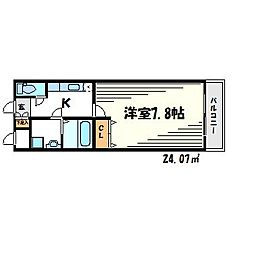 フジパレス夙川江上町[1階]の間取り