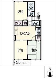 リッチオール朋香[2階]の間取り