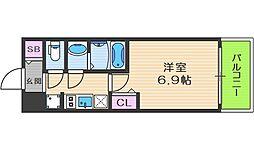 Osaka Metro中央線 阿波座駅 徒歩7分の賃貸マンション 2階1Kの間取り