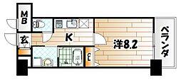 MDIプロスコルディア黒崎駅前[2階]の間取り