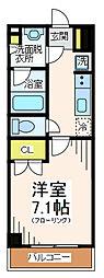 TELLUS八幡山[1階]の間取り