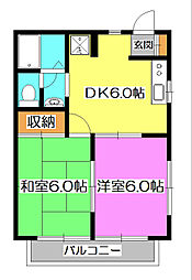 セントラルビラ[2階]の間取り