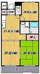 ヒルトップ手塚[208号室号室]の間取り