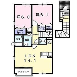 シトラスガーデンA[2階]の間取り