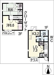 ソレイユ汐見A棟[2階]の間取り
