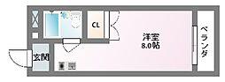 ユニハイム木村[4階]の間取り