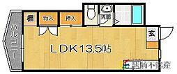 福岡県福岡市城南区片江4丁目の賃貸マンションの間取り