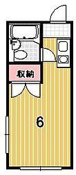 ハイツ賀茂II[112号室]の間取り