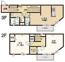 セゾン・ド・オカモト[3階]の間取り