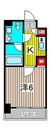 メインステージ川口WEST[8階]の間取り