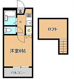 ユーハイム緑井B棟[1階]の間取り
