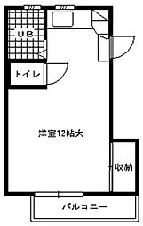 レジデンス尾島[3階]の間取り
