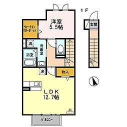 エスポワール3[2階]の間取り