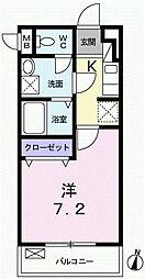 東京メトロ丸ノ内線 中野坂上駅 徒歩9分の賃貸マンション 2階1Kの間取り