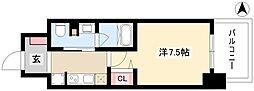 パークアクシス名古屋山王橋 15階1Kの間取り