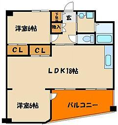 シティハイツIII[2階]の間取り