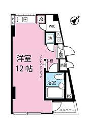 LE VENT/ル・ヴォン 2階ワンルームの間取り
