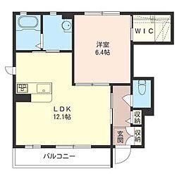 ラ ルーチェ B[1階]の間取り