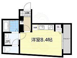 京成押上線 青砥駅 徒歩1分の賃貸マンション 3階ワンルームの間取り