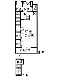 フジパレスフォーゲル3番館[2階]の間取り