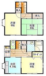 [一戸建] 神奈川県小田原市新屋 の賃貸【/】の間取り